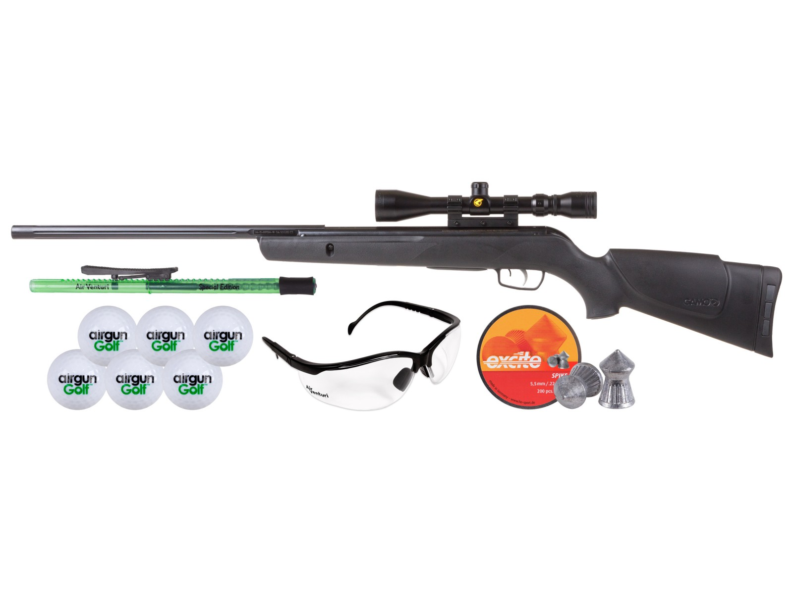 Gamo Big Cat .22 w/ 3-9x40 Scope New Airgunner Kit 0.22