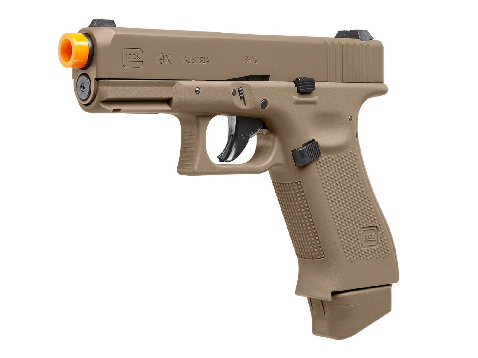 Glock 19X CO2 Blowback Airsoft Pistol