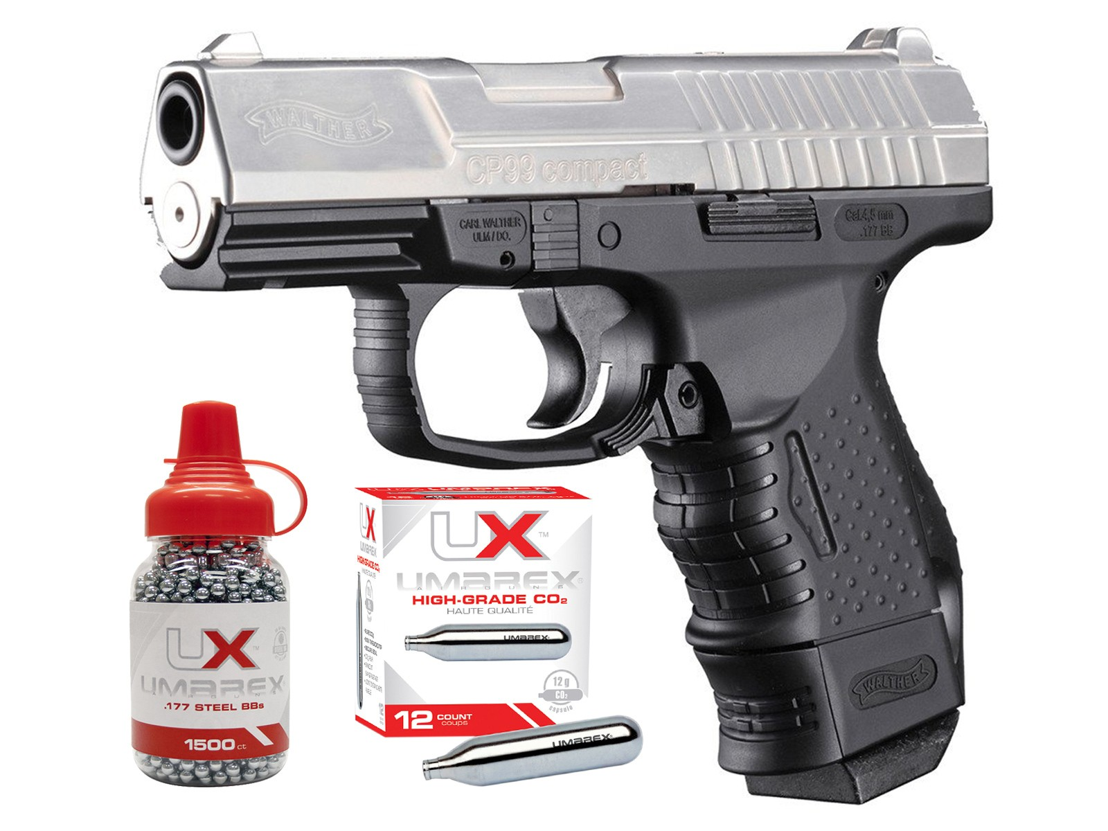Walther CP99 Compact CO2 BB Air Pistol Kit
