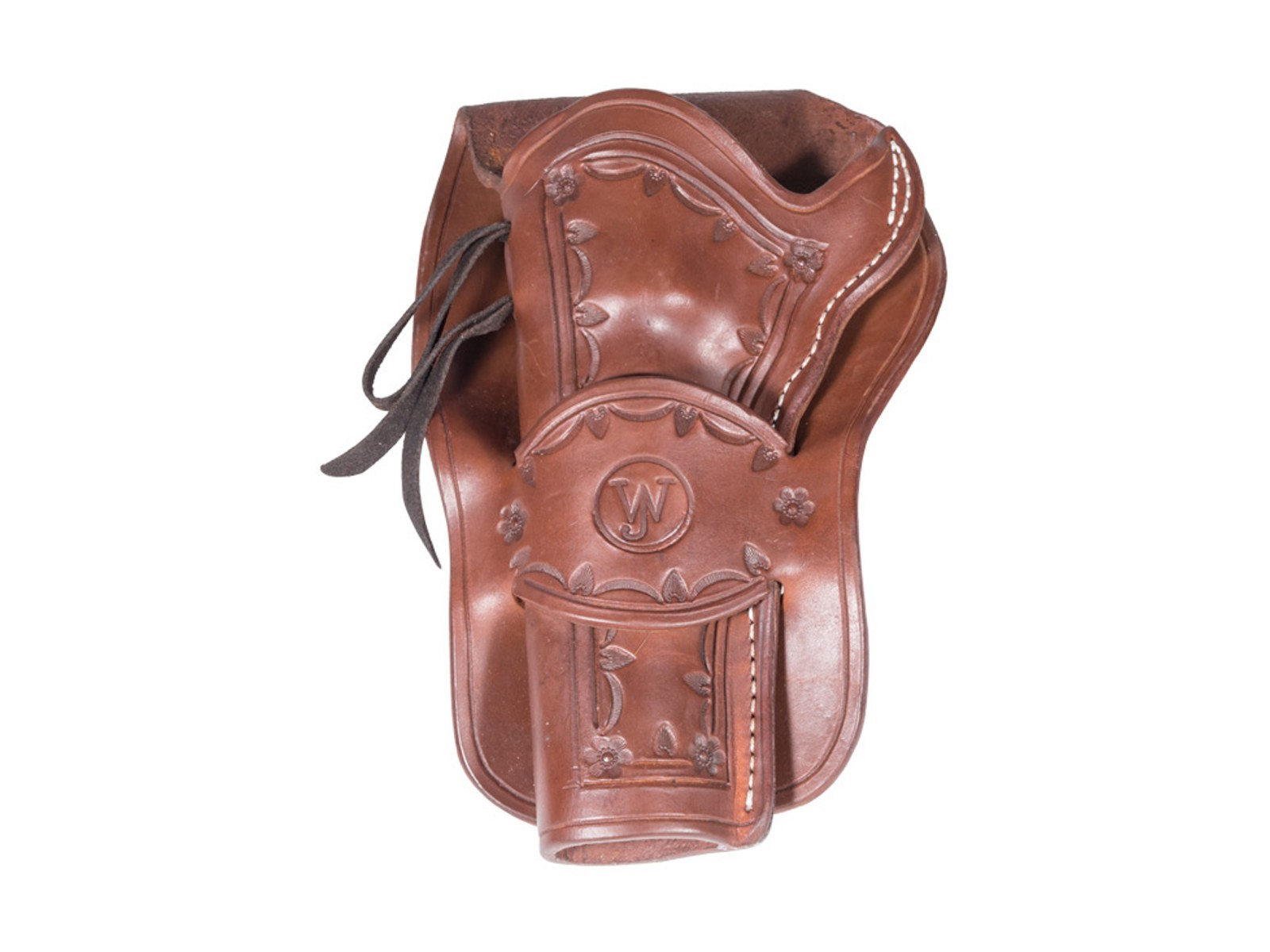Western Justice Hand-Tooled Leather Holster